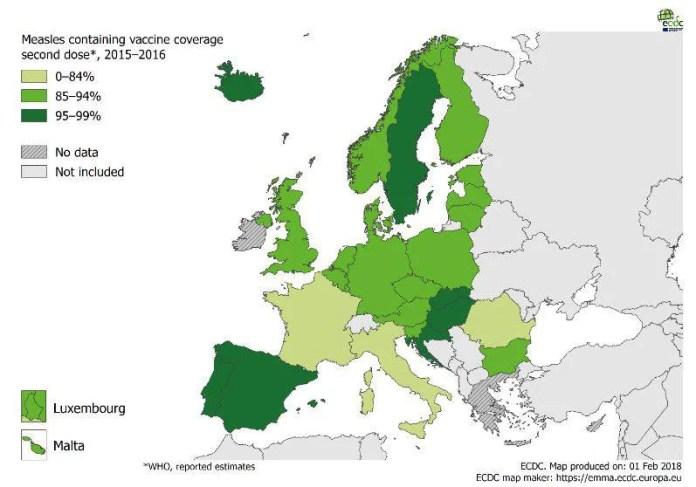 allarme morbillo in europa