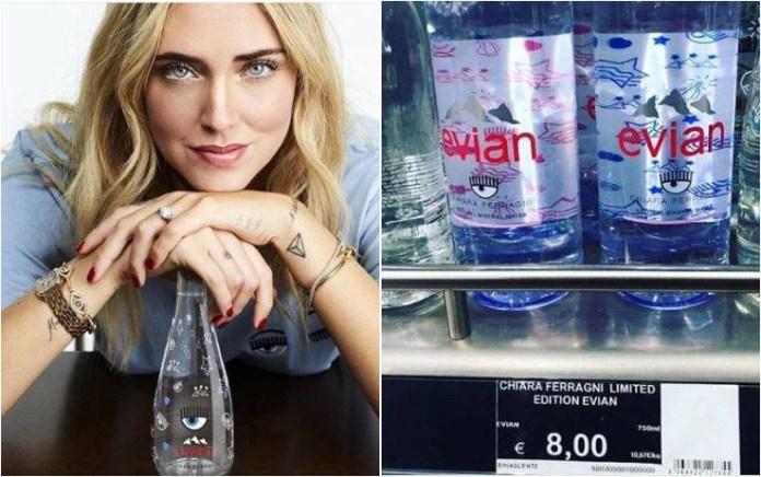 Acqua Evian Chiara Ferragni