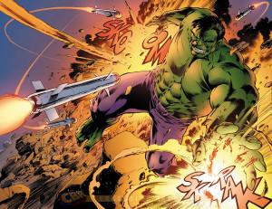 Doble página interior de Savage Hulk 1, por Alan DAvis