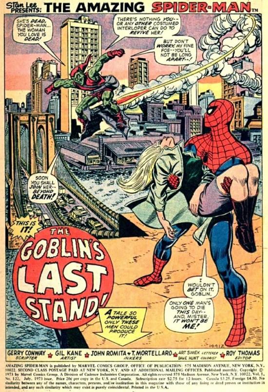 The Amazing Spider-man 122 pag01 splashBONA