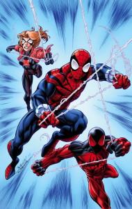 Portada de Scarlet Spiders 1 a cargo de Mark Bagley