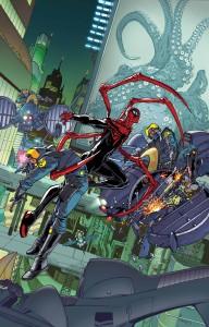 Ilustración de la portada de Superior Spider-Man 32