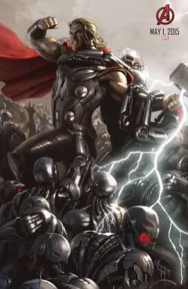 Thor en una imagen promocional de Los Vengadores: La era de Ultrón