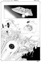 Página 2 de Star Wars 1, a cargo de John Cassaday.
