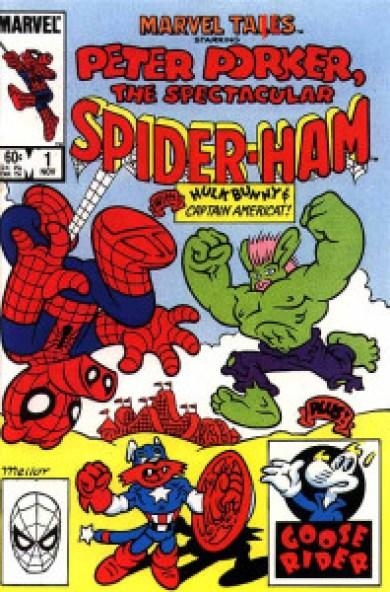 La versión porcina de Spiderman tuvo muy buena acogida entre los fans y llegó a disfrutar de su propio cómic dentro de la línea Star.