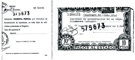LOS CUATRO FANTASTICOS. Tasas.500