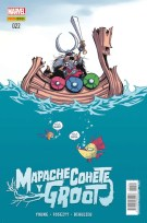 Mapache Cohete y Groot 22 (Panini)