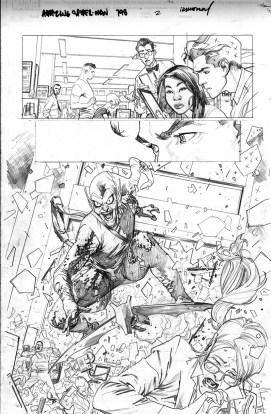 Amazing Spider-Man 798, página 2, lápices de Stuart Immonen