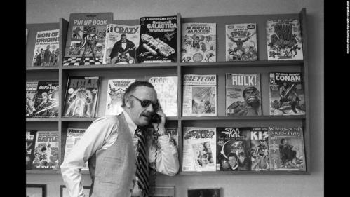 1/3/1980-Stan Lee, Head of Marvel Comics, shown in his offices at 575 Madison Ave., NYC. (William Sauro/The New York Times)