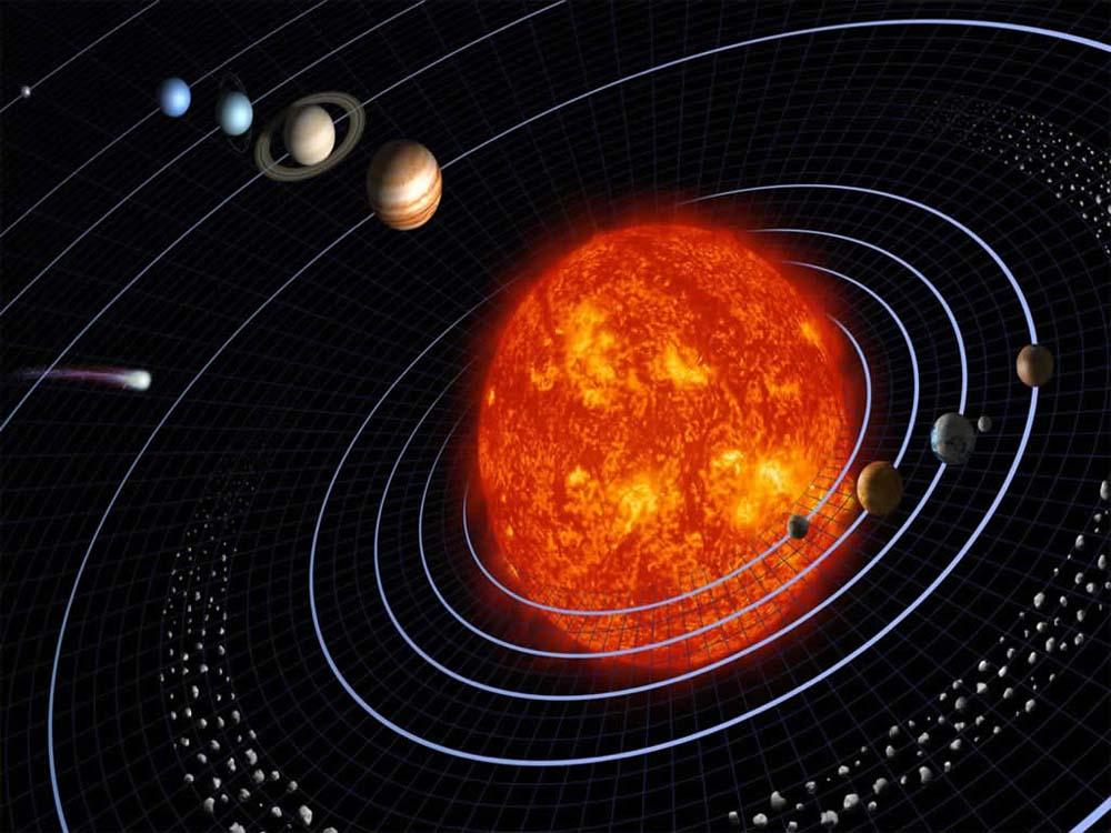 Resultado de imagen de sistema solar gif animado