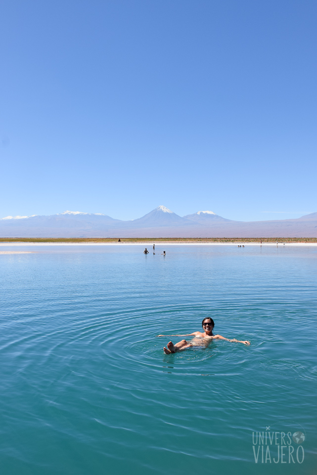 Floating in the Cejar Lagoon