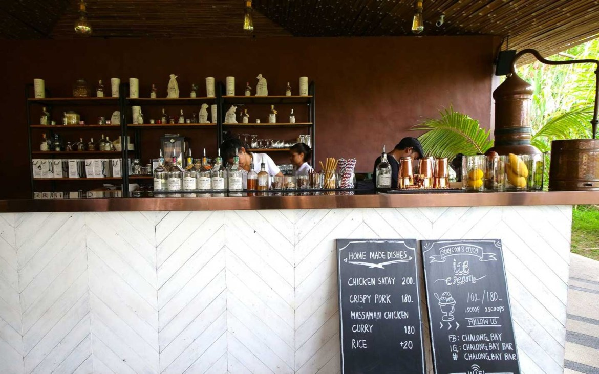 Bar at Chalong Bay Distillery - Awesome things to do in Thailand