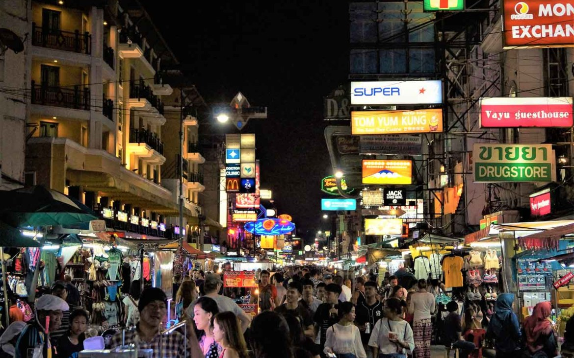 Khao San Road Night - Awesome things to do in Thailand