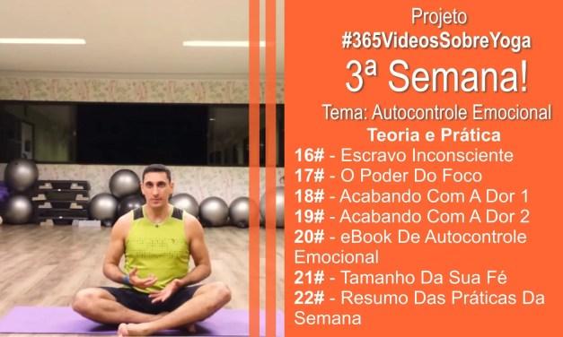 Projeto #365VideosSobreYoga – 3ª Semana Com Vídeos De Autocontrole Emocional Através Do Yoga