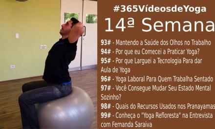#365VídeosdeYoga – 14ª Semana com Práticas de Yoga no Trabalho, Como Entrei no Yoga e Tornei Minhas Aulas Profissão, Recursos do Pranayama e Entrevistas