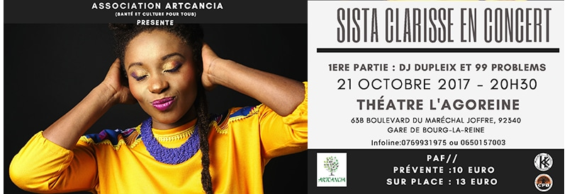 Protégé: Sista Clarisse en concert pour les enfants malades