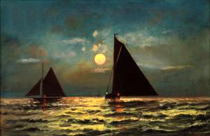 """Sailing by moonlight"", C.S. Dorion (1900)"