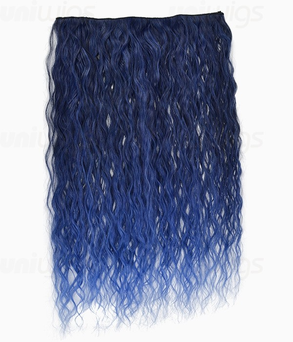 20 Ombre Blue Curly Heat Friendly Synthetic Flip Amp Clip