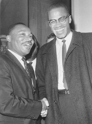 Malcolm X and Dr. Martin L. King Jr.