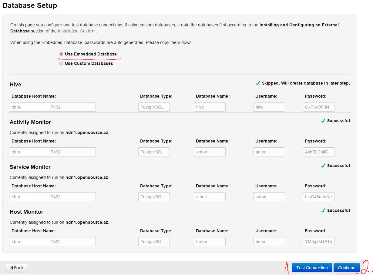Database-credentials