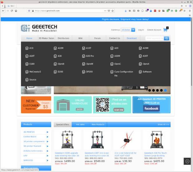 geeetech printer downloads