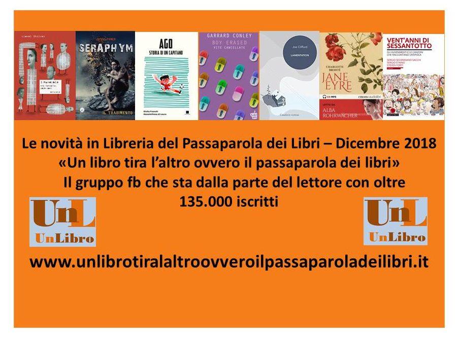 Le novità in libreria del passaparola dei libri – dicembre 2018
