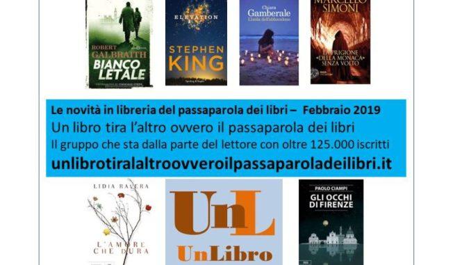 novità in libreria febbraio 2019 Recensioni Libri e News UnLibro