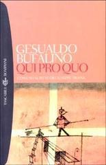 QUI PRO QUO Gesualdo Bufalino Recensioni libri e News