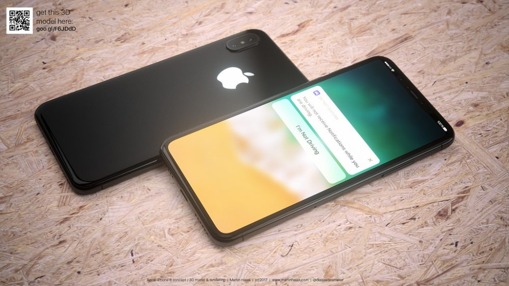 iphone 8 renders in black