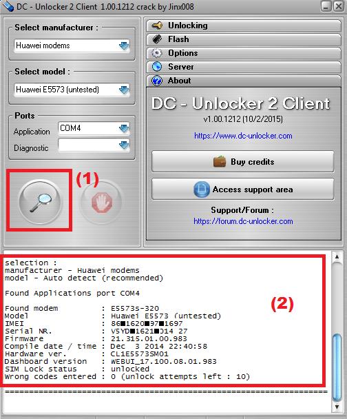 Huawei e5573 unlock dc unlocker