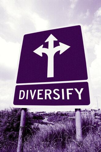 sign diversify diversification purple