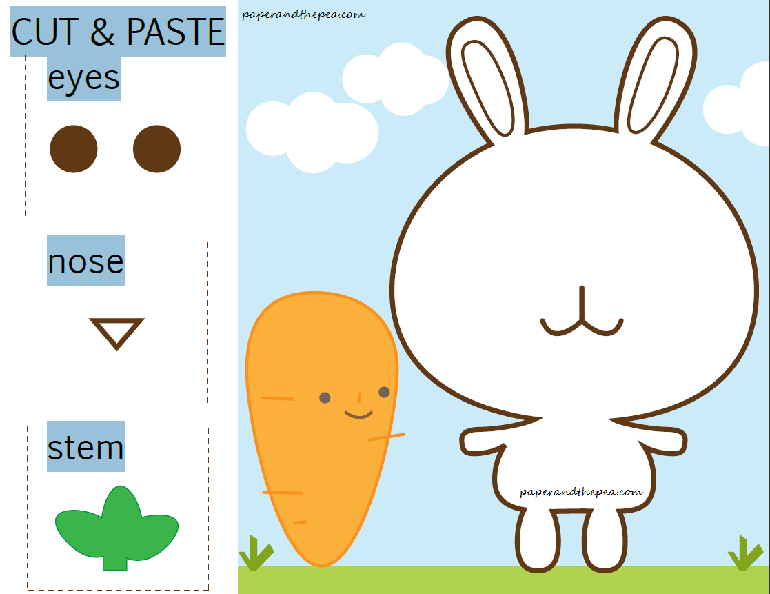 Free Cut And Paste Worksheets