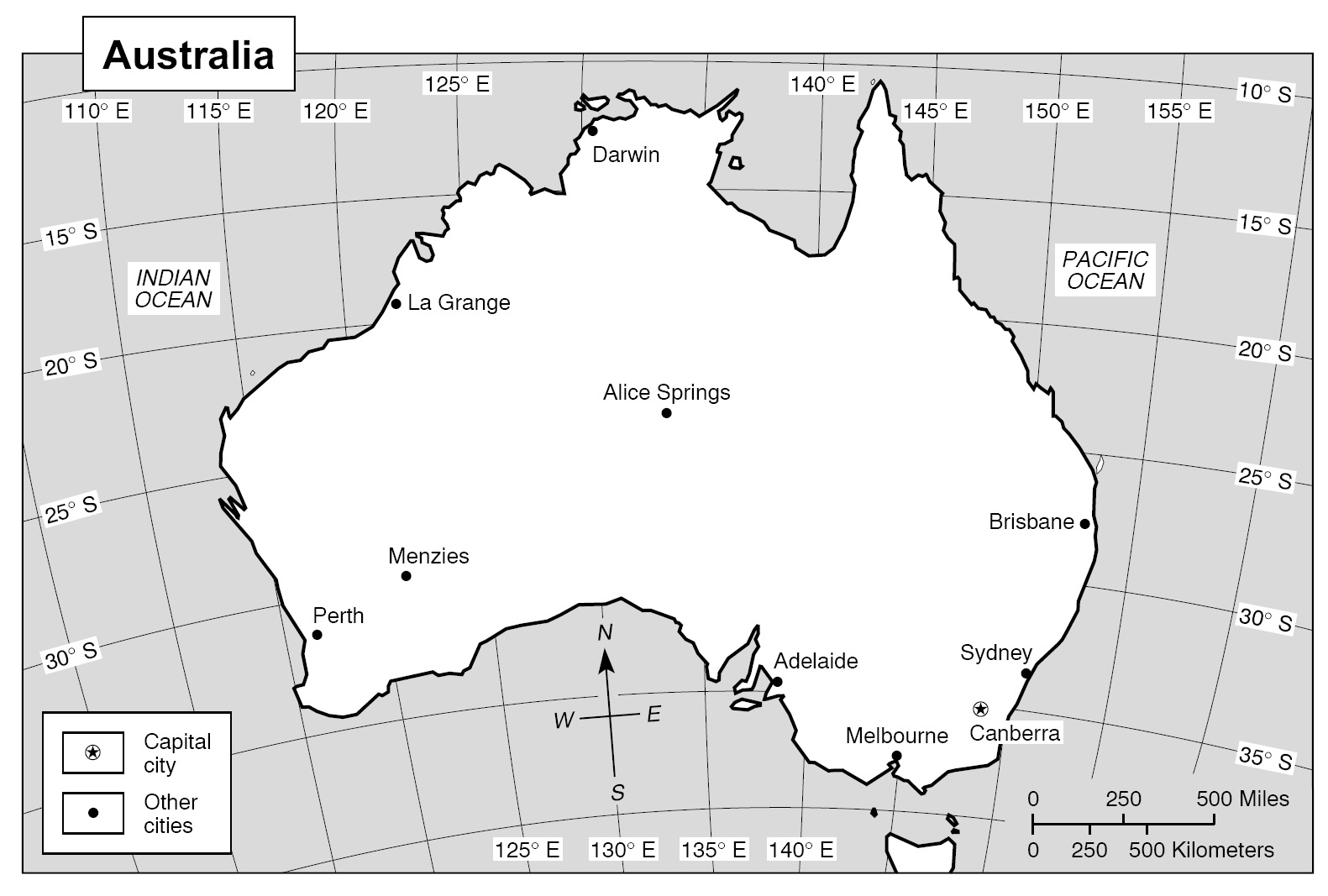 Latitude And Longitude Worksheets Australia