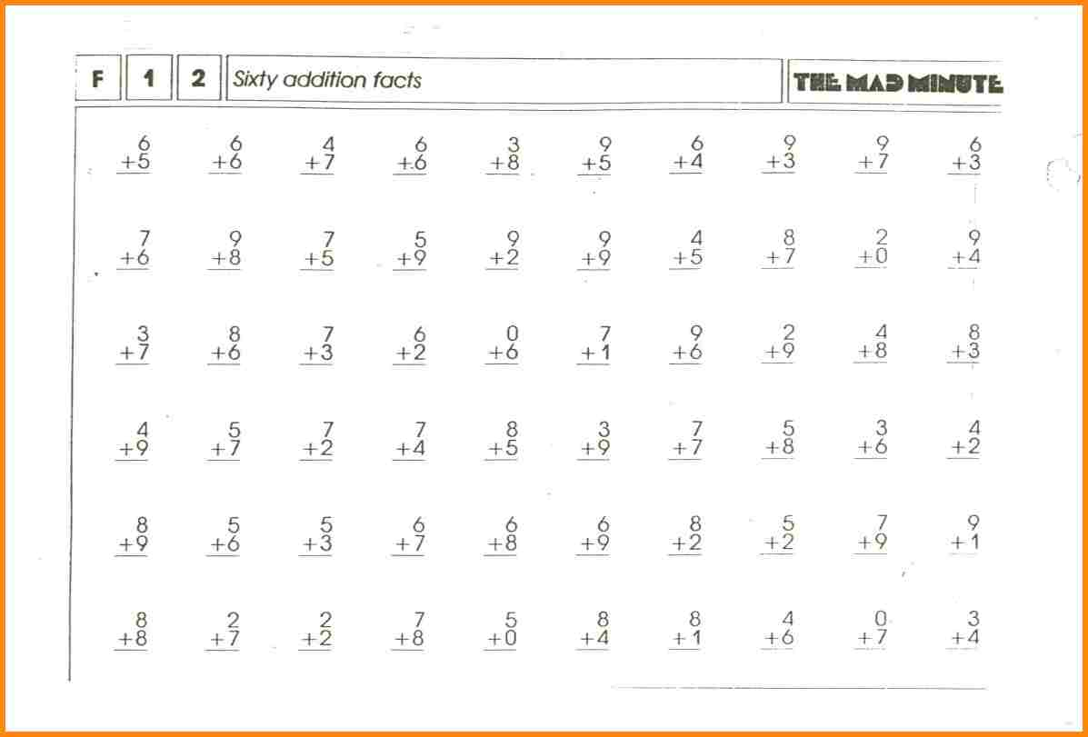 11 Mad Minute Multiplication Worksheets Samples