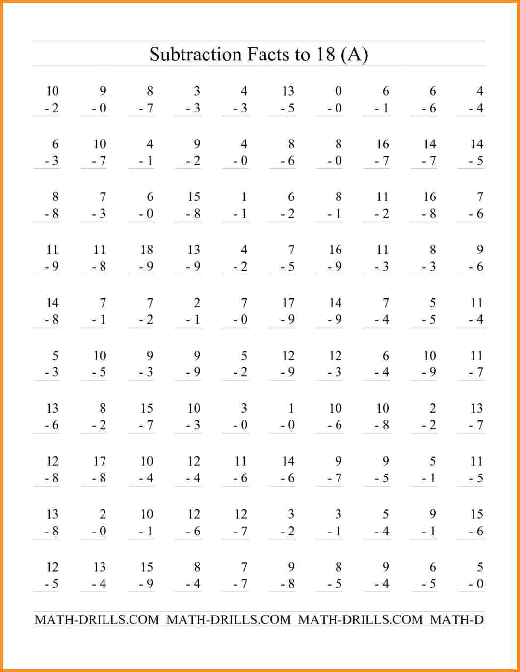 Mad Minute Multiplication Worksheets 5th Grade