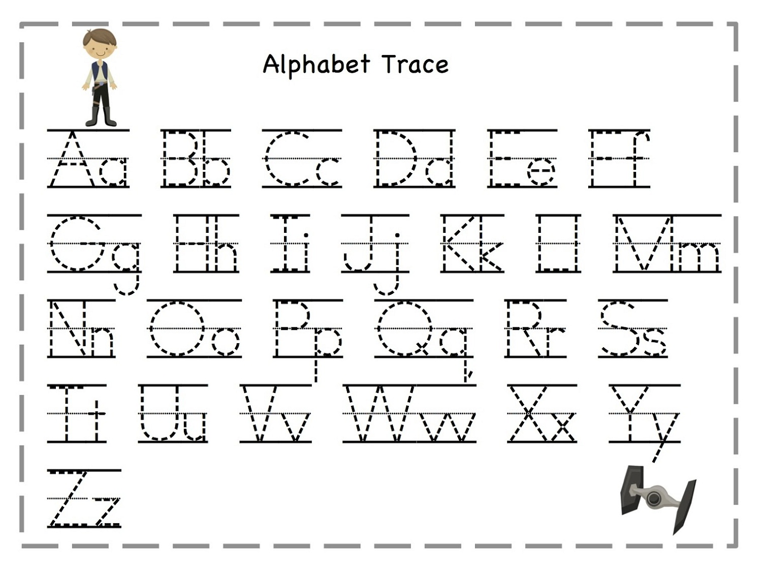 Abc Alphabet Letter Tracing Worksheets Printable