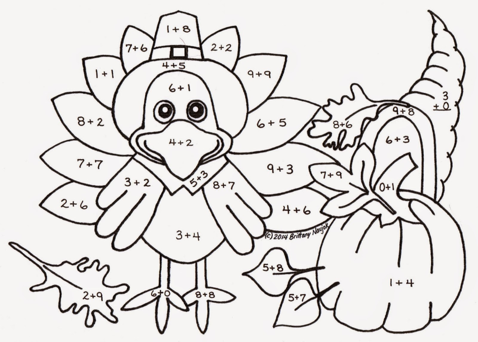 Turkey Math Worksheets 2nd Grade