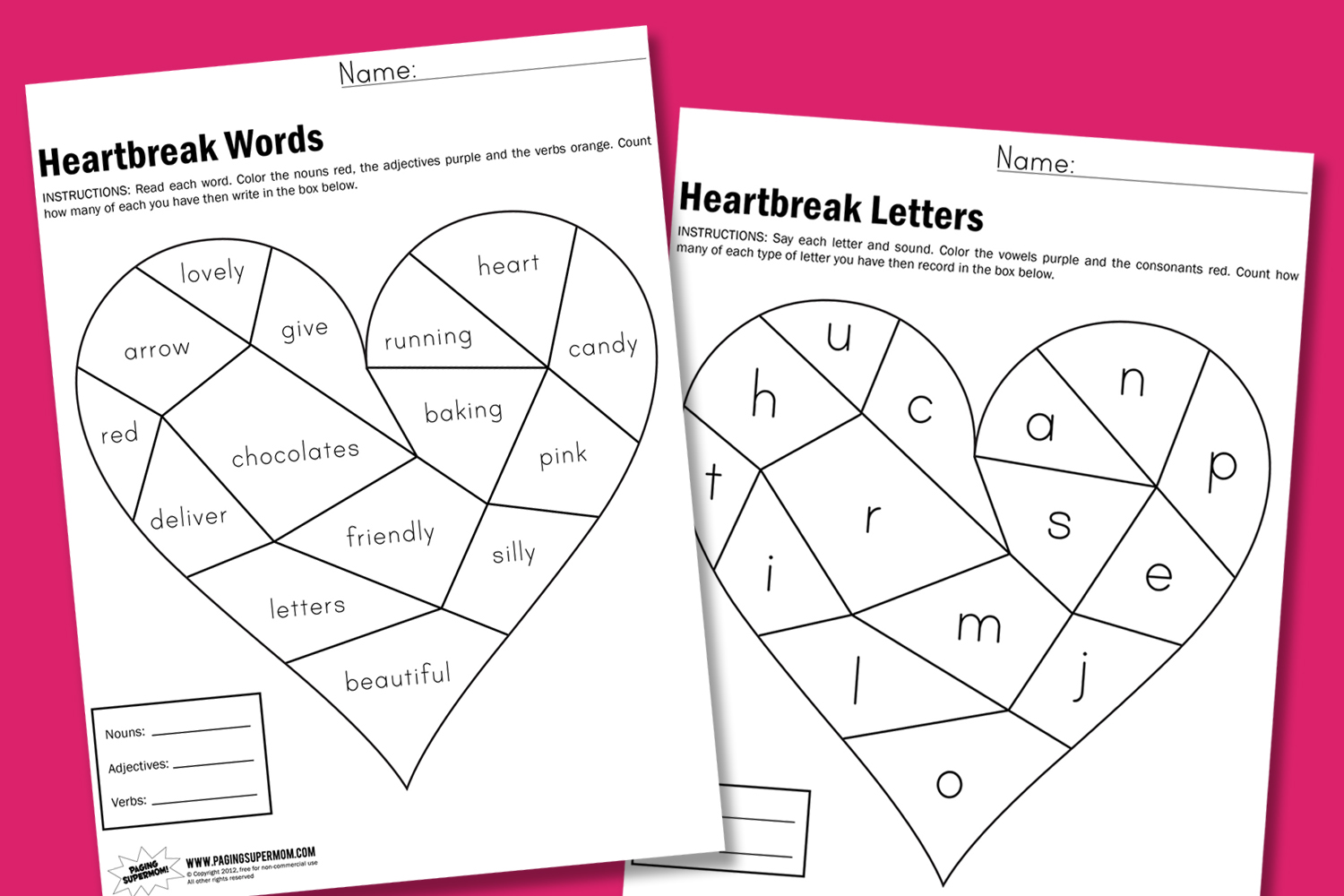 Adjectives For First Graders Worksheets