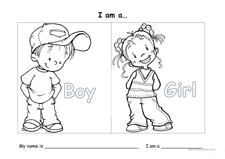 Gender Worksheet For Kindergarten
