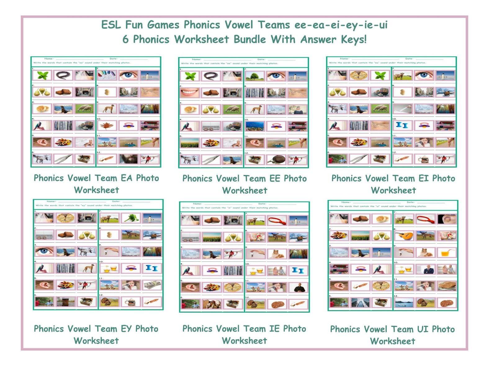 Phonics Vowel Teams Ee Worksheets Samples