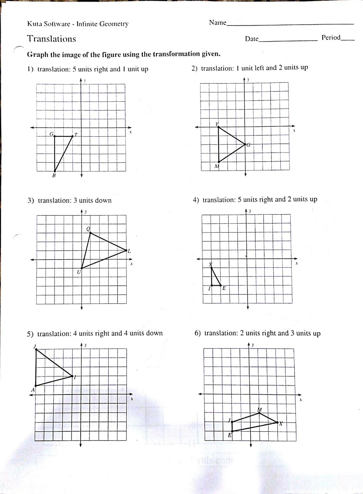 Transformations Worksheets 8th Grade Free Worksheets