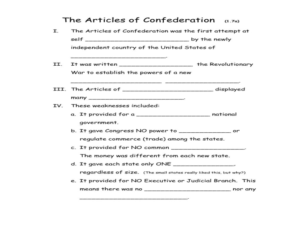 Uncategorized Articles Of Confederation Worksheet Worksheets Samples