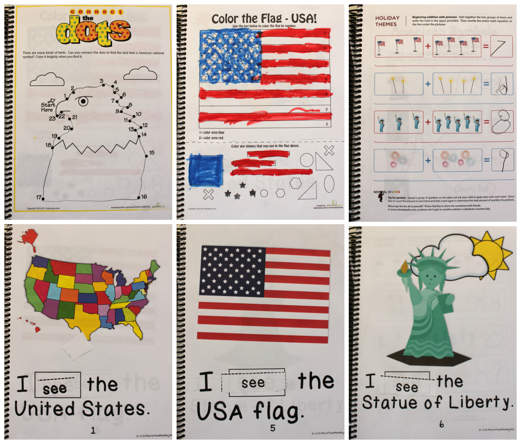 Symbols Of America Worksheets