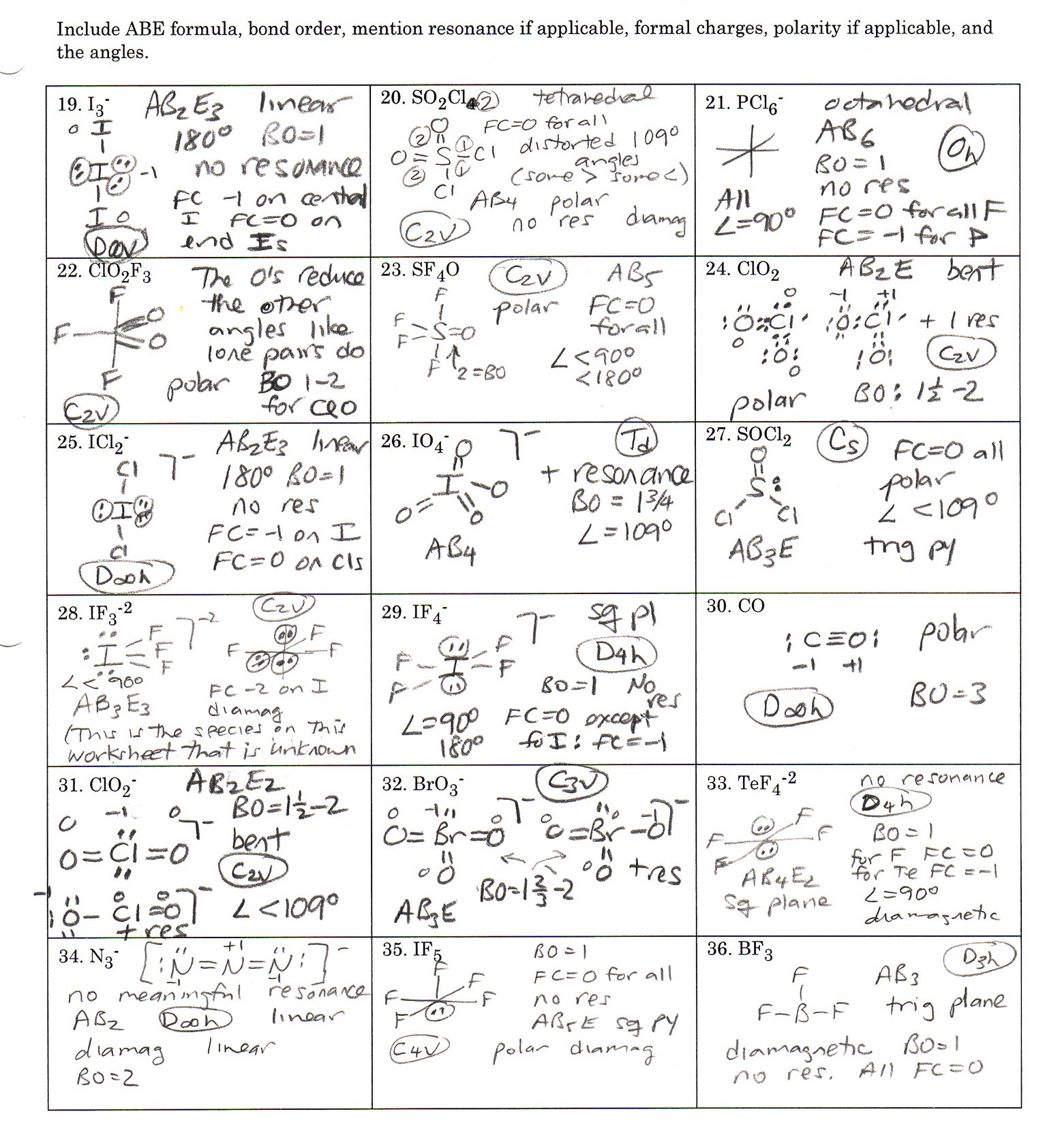 Lewis Dot Structure Worksheet With Multiple Central Atoms