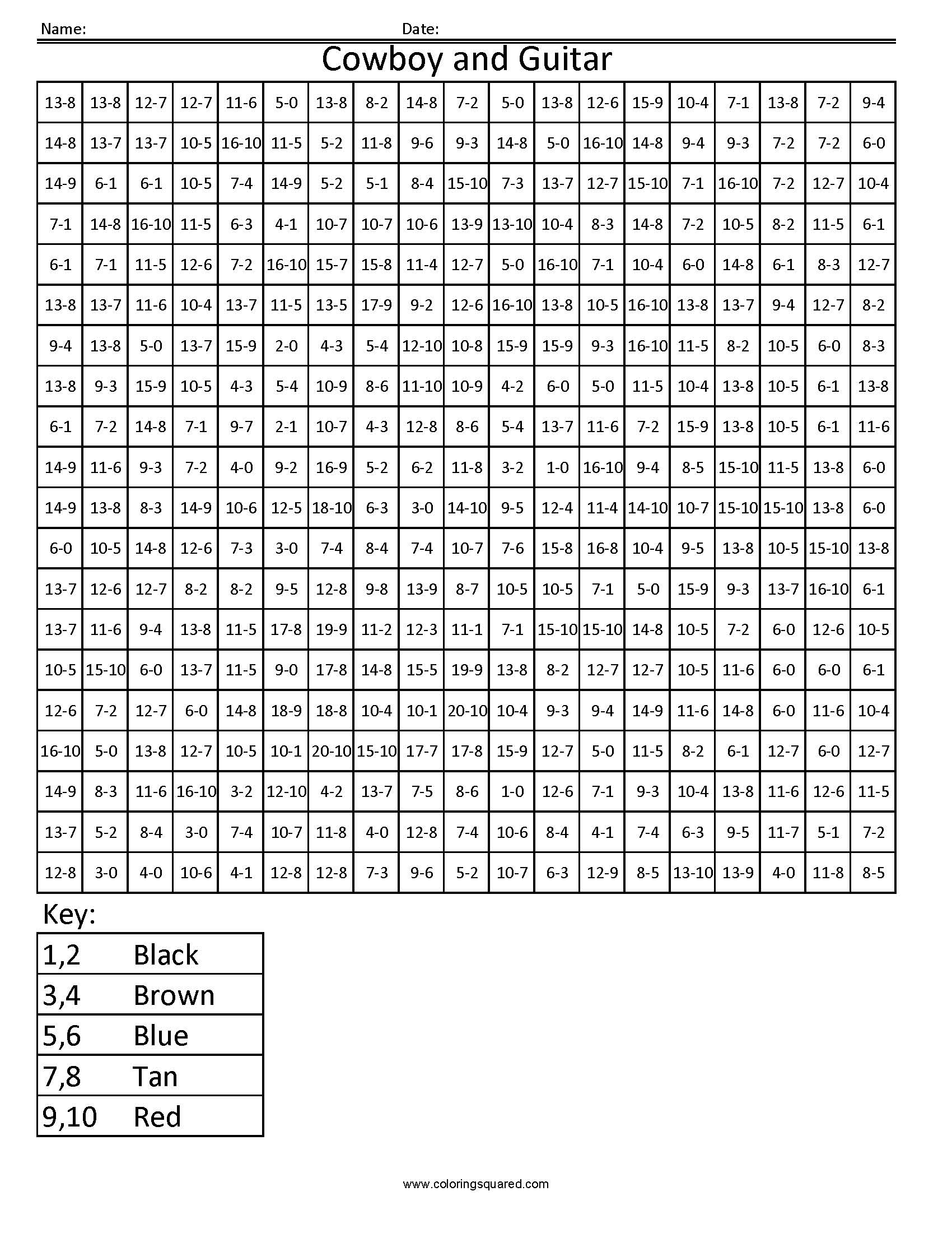 Math Fact Coloring Worksheets