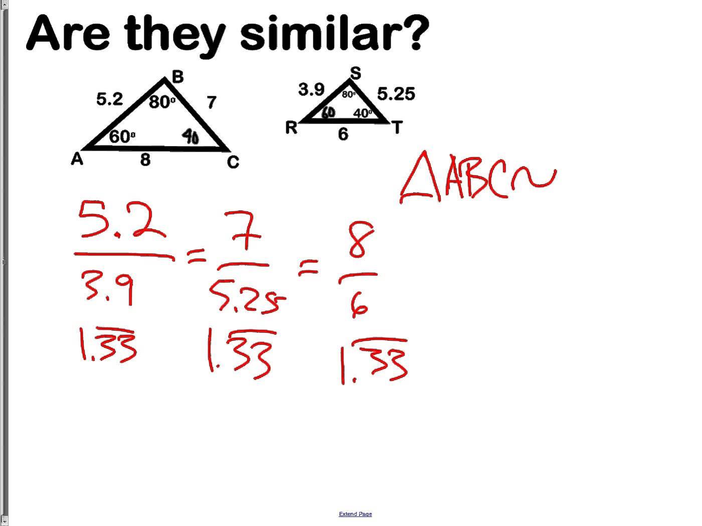 Similar Polygons Worksheets Answers