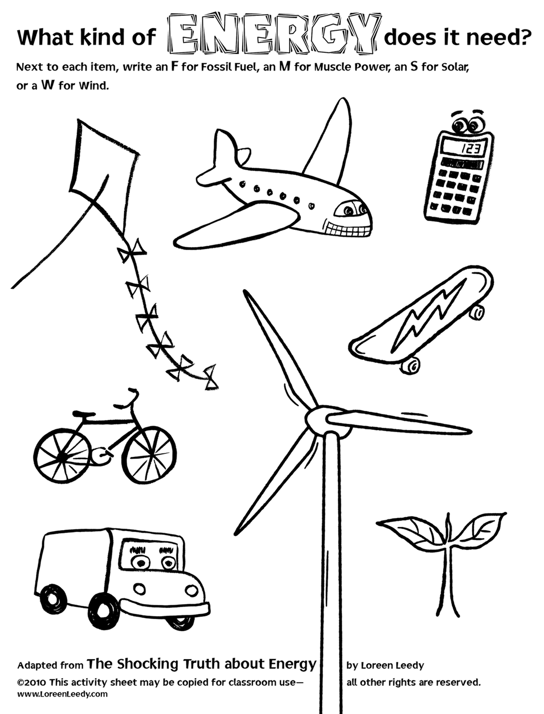 Electricity For Kids Worksheets