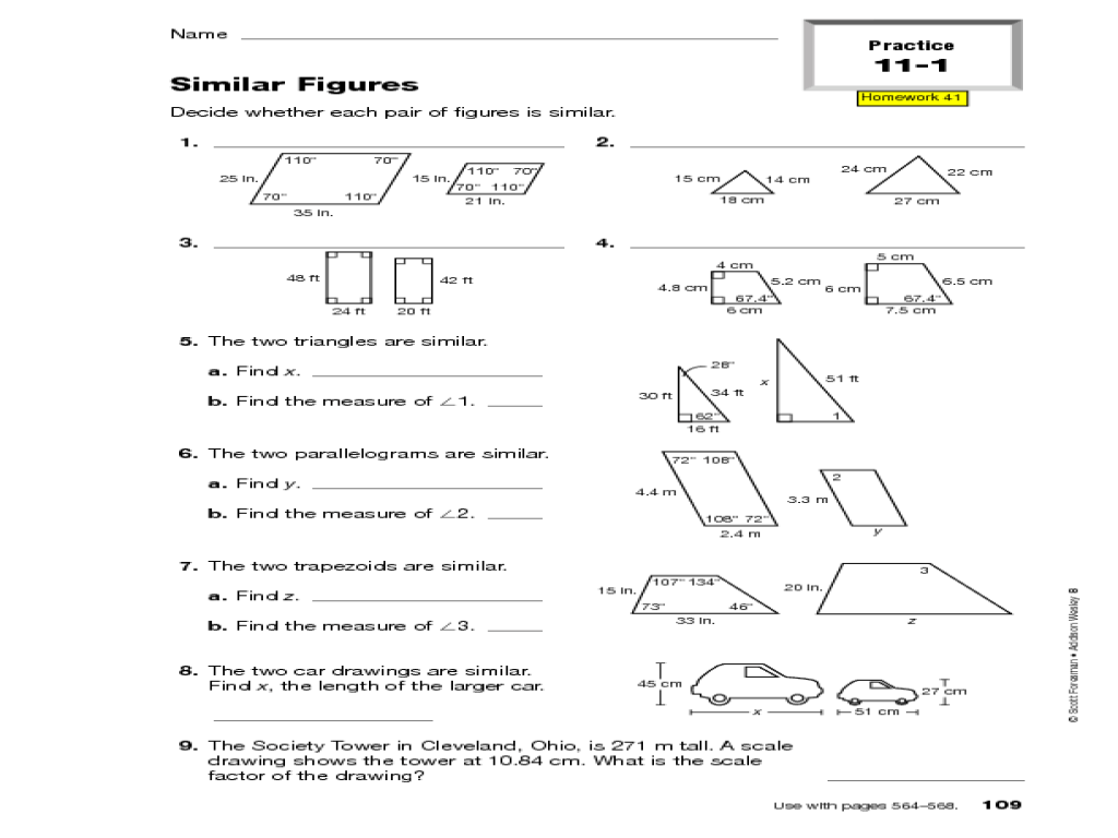 Congruence Worksheets 8th Grade