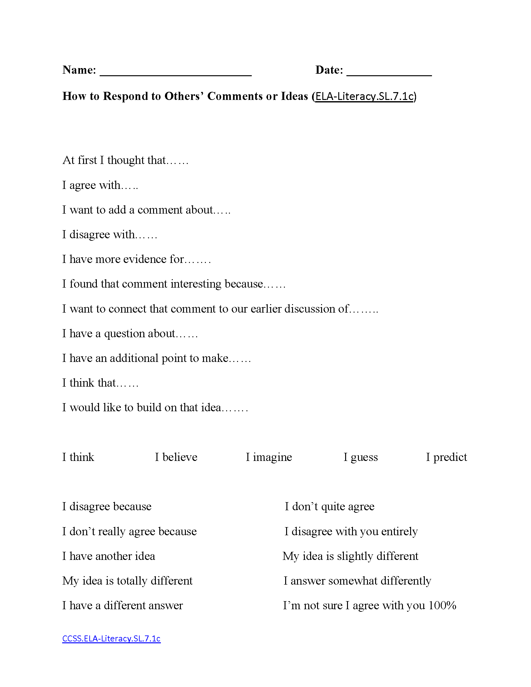 English Worksheets 7th Grade