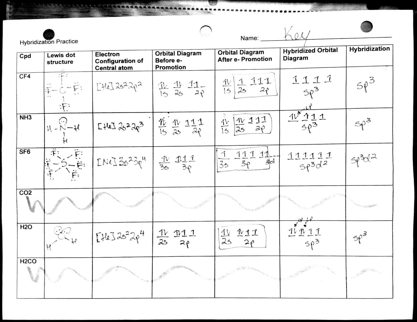 Molecular Geometry Worksheet Answers Free Worksheets